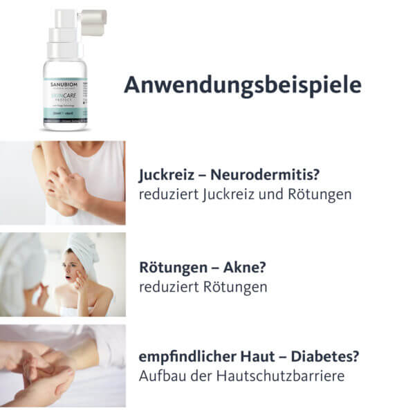 SkinCare Protect Anwendung Beispiele