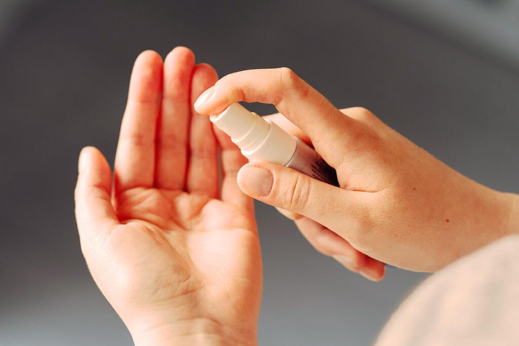 Anwendung der Phagen auf der Haut